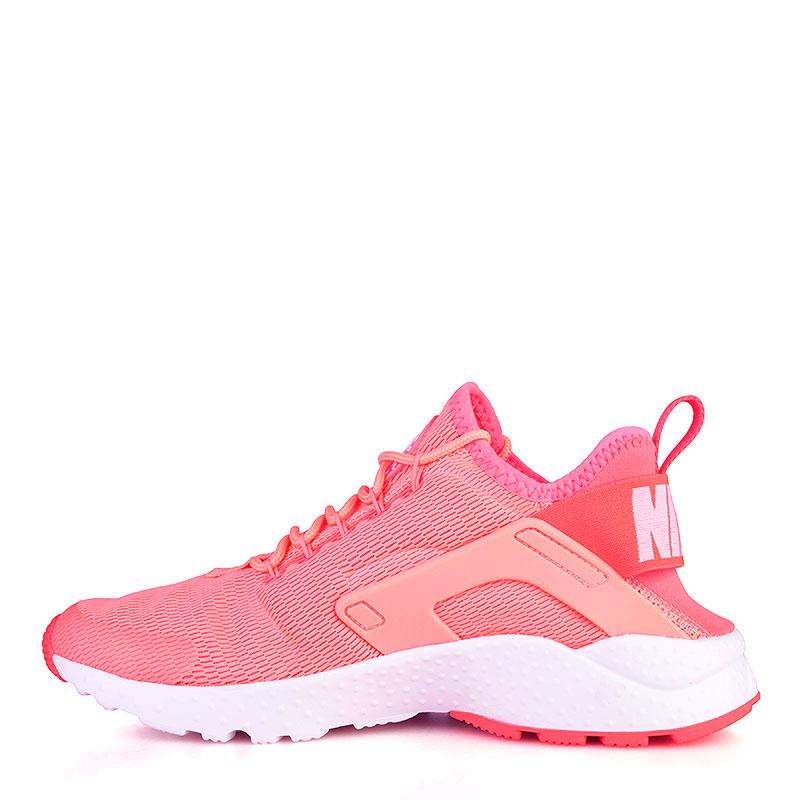 Купить женские коралловые, белые  кроссовки nike wmns air huarache run ultra в магазинах Streetball изображение - 3 картинки