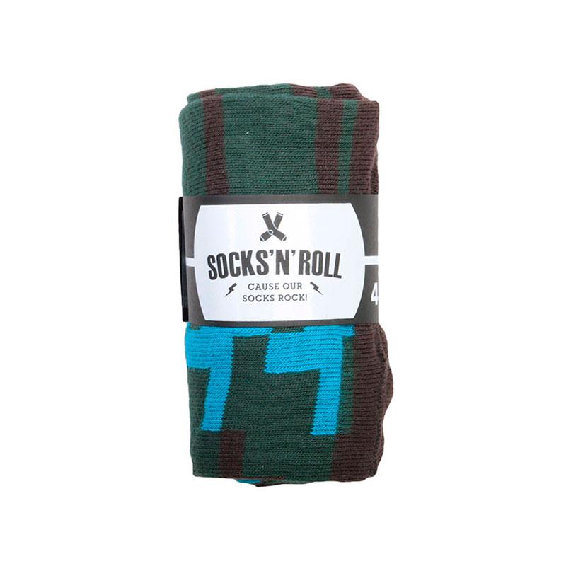 Носки SocksnRollНоски<br>87% хлопок,10% полиамид, 3% эластан<br><br>Цвет: Зеленый<br>Размеры : 41-45