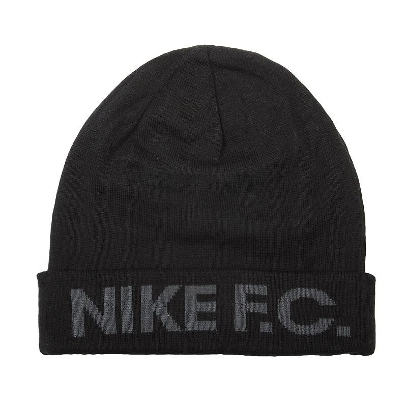 Шапка Nike F.C. BeanieШапки<br>Акрил, хлопок<br><br>Цвет: Черный<br>Размеры US: 1SIZE