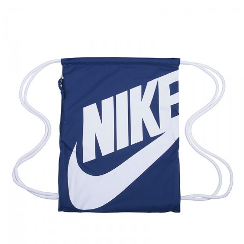синий, белый  мешок nike heritage drawstring backpack BA5128-411 - цена, описание, фото 1