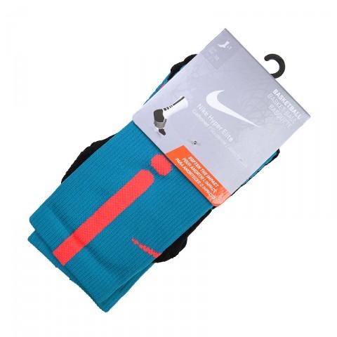 мужские голубые, коралловые, чёрные, серые  носки nike hyper elite basketball crew socks SX4801-418 - цена, описание, фото 1