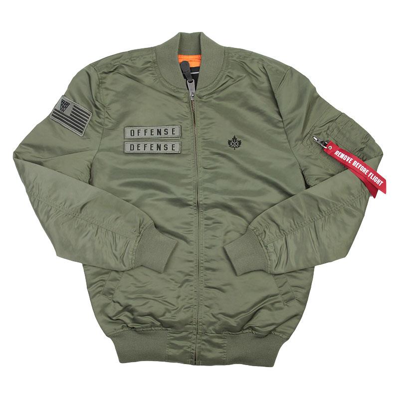 мужскую зеленую  куртку k1x x alpha ma 1 jacket 4153-1100/3343 - цена, описание, фото 1