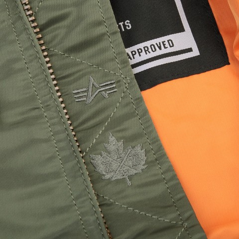 мужскую зеленую  куртку k1x x alpha ma 1 jacket 4153-1100/3343 - цена, описание, фото 3