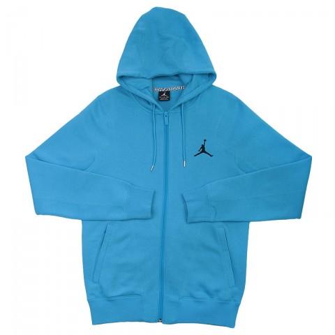 Купить мужскую голубую  толстовка jordan full zip hoody в магазинах Streetball - изображение 1 картинки