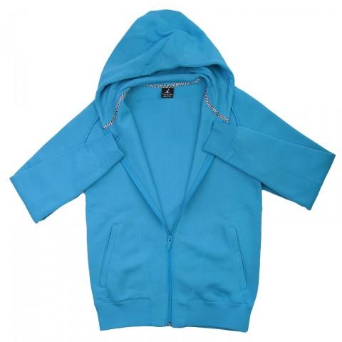 Купить мужскую голубую  толстовка jordan full zip hoody в магазинах Streetball - изображение 2 картинки