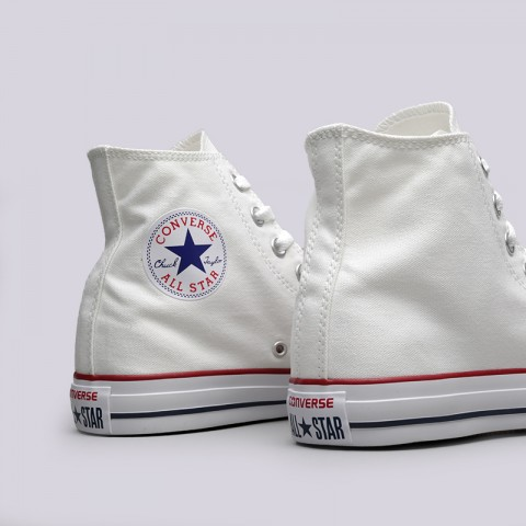 белые  кеды converse all star hi M7650 - цена, описание, фото 5