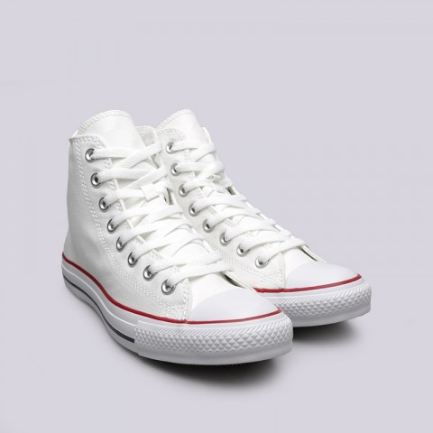белые  кеды converse all star hi M7650 - цена, описание, фото 3