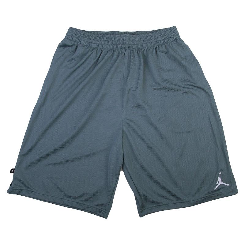 мужские серые  шорты jordan solid 607083-494 - цена, описание, фото 1