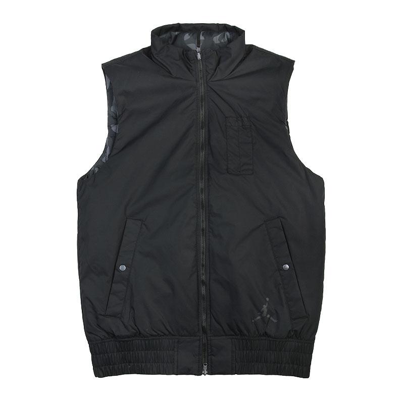 Жилет Jordan AJ Fly VestКуртки, пуховики<br>Нейлон, полиэстер<br><br>Цвет: Чёрный, серый<br>Размеры US: S;XL