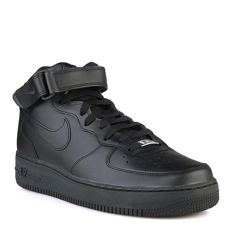 Кроссовки Nike Air Force 1 Mid 07Кроссовки lifestyle<br>Кожа, текстиль, резина<br><br>Цвет: Черный<br>Размеры US: 8.5;10.5;11;11.5;12;12.5<br>Пол: Мужской