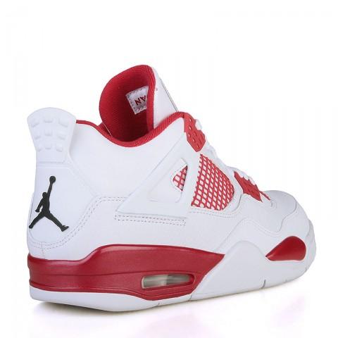 мужские белые, красные  кроссовки air jordan iv retro 308497-106 - цена, описание, фото 2