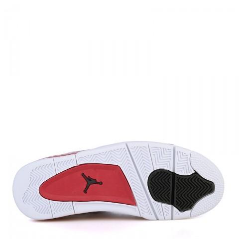 мужские белые, красные  кроссовки air jordan iv retro 308497-106 - цена, описание, фото 4
