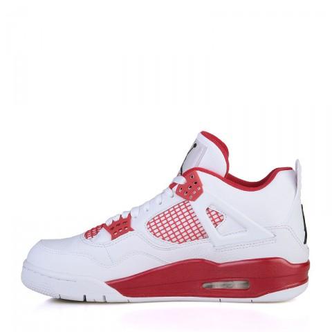 мужские белые, красные  кроссовки air jordan iv retro 308497-106 - цена, описание, фото 3