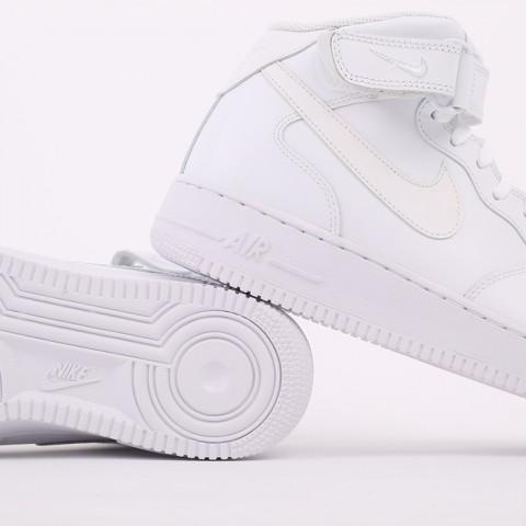 мужские белые  кроссовки nike air force 1 mid`07 315123-111 - цена, описание, фото 5