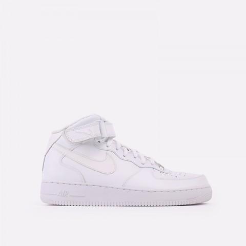 мужские белые  кроссовки nike air force 1 mid`07 315123-111 - цена, описание, фото 1