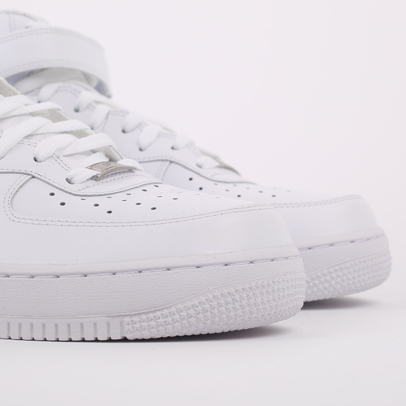 мужские белые  кроссовки nike air force 1 mid`07 315123-111 - цена, описание, фото 3