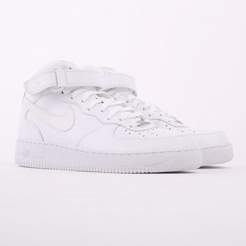 мужские белые  кроссовки nike air force 1 mid`07 315123-111 - цена, описание, фото 2