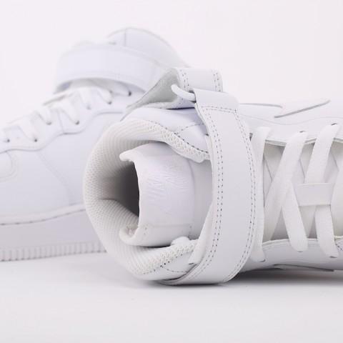 мужские белые  кроссовки nike air force 1 mid`07 315123-111 - цена, описание, фото 7