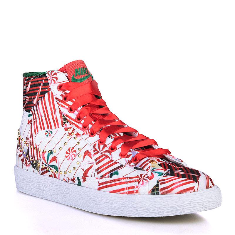 Кроссовки Nike sportswear WMNS Blazer Mid QSКроссовки lifestyle<br>Текстиль, резина<br><br>Цвет: Белый, красный, зелёный<br>Размеры US: 6.5;7;8.5<br>Пол: Женский