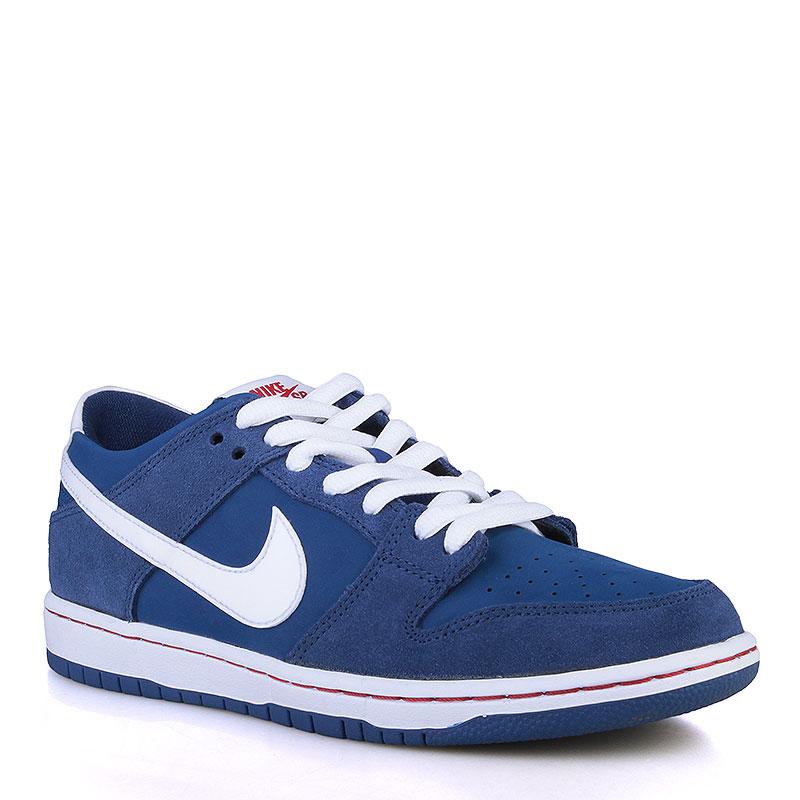 Кроссовки Nike SB Dunk Low Pro IWКроссовки lifestyle<br>Кожа, текстиль, резина<br><br>Цвет: Синий, белый<br>Размеры US: 8<br>Пол: Мужской