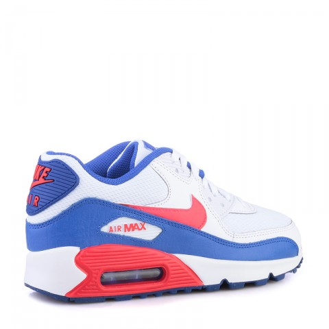 детские белые,синие,красные  кроссовки nike air max 90 mesh 724824-104 - цена, описание, фото 2