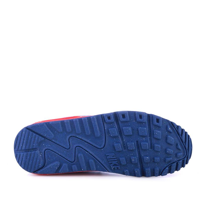 детские белые,синие,красные  кроссовки nike air max 90 mesh 724824-104 - цена, описание, фото 4