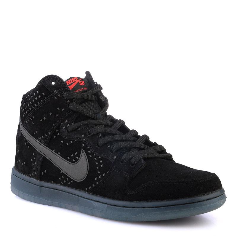 Кроссовки Nike SB Dunk High Prem FlashКроссовки lifestyle<br>Кожа,текстиль,резина<br><br>Цвет: Черный<br>Размеры US: 8;8.5;10;11<br>Пол: Мужской