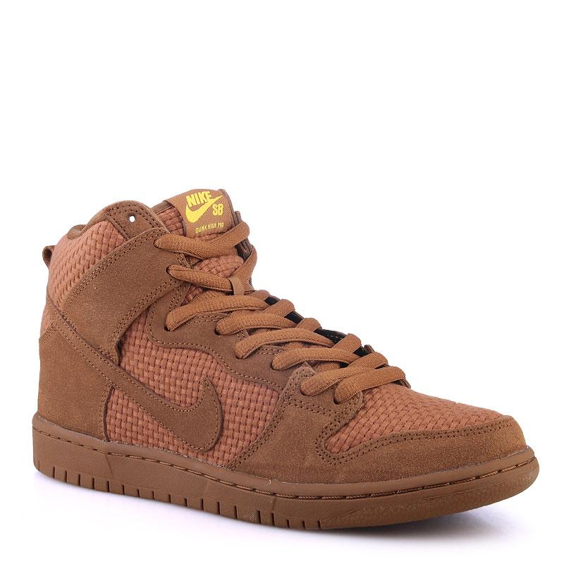 Кроссовки Nike SB Dunk High Premium SBКроссовки lifestyle<br>Кожа,текстиль,резина<br><br>Цвет: Коричневый<br>Размеры US: 8;9;11<br>Пол: Мужской