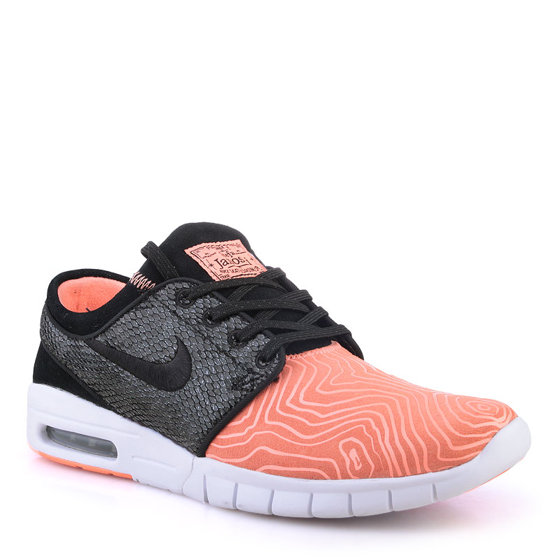 Кроссовки Nike SB Stefan Janoski MaxКроссовки lifestyle<br>Кожа,текстиль,резина<br><br>Цвет: Кораловый<br>Размеры US: 8;8.5;9;10;10.5;11;12<br>Пол: Мужской