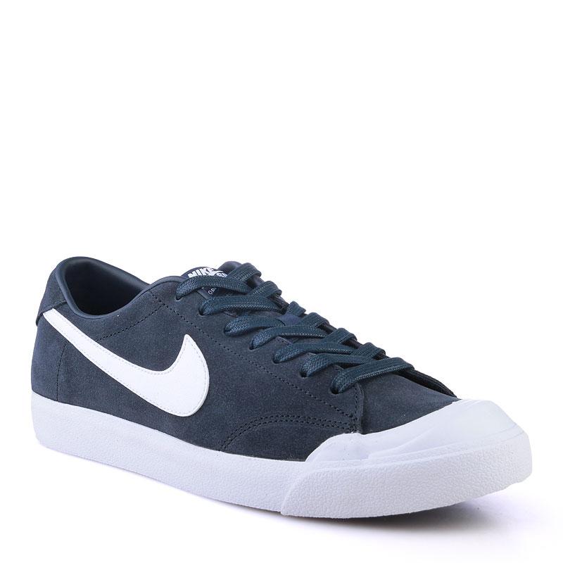 Кроссовки Nike SB Zoom All Court CKКроссовки lifestyle<br>Кожа,текстиль,резина<br><br>Цвет: Синий<br>Размеры US: 8;9.5;10.5;11;12<br>Пол: Мужской