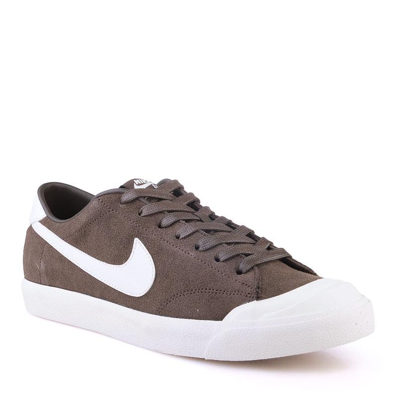 Кроссовки Nike SB Zoom All Court CkКроссовки lifestyle<br>Кожа,текстиль,резина<br><br>Цвет: Коричневый<br>Размеры US: 9;11;12<br>Пол: Мужской