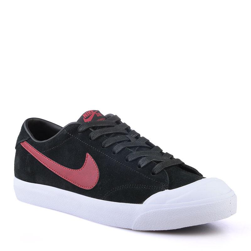 Кроссовки Nike SB Zoom All Court CkКроссовки lifestyle<br>Кожа,текстиль,резина<br><br>Цвет: Черный<br>Размеры US: 8;9;9.5<br>Пол: Мужской
