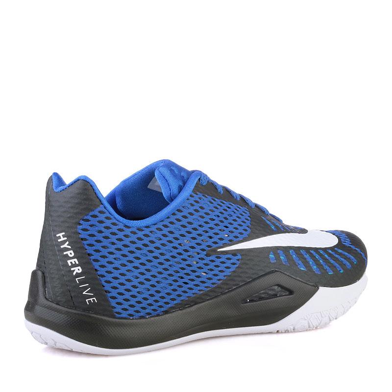 Купить мужские синие  кроссовки nike hyperlive в магазинах Streetball изображение - 2 картинки