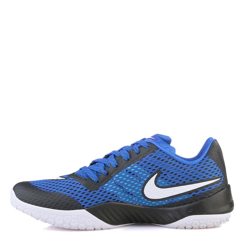 Купить мужские синие  кроссовки nike hyperlive в магазинах Streetball изображение - 3 картинки