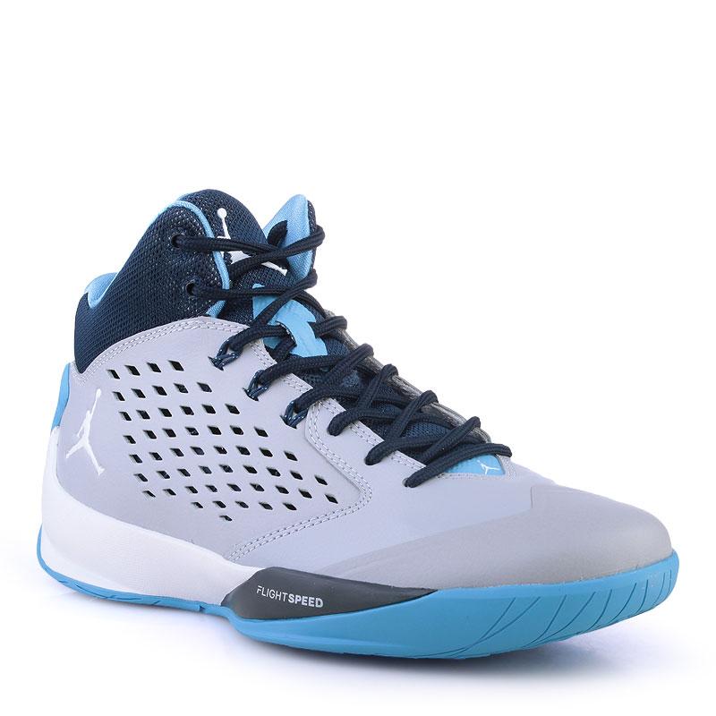 Купить мужские синие,серые ,голубые  кроссовки air jordan rising high в магазинах Streetball изображение - 1 картинки
