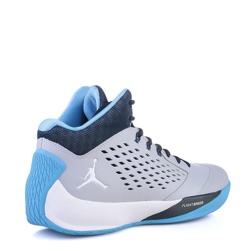 Купить мужские синие,серые ,голубые  кроссовки air jordan rising high в магазинах Streetball изображение - 2 картинки