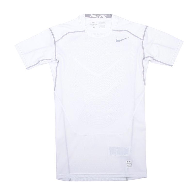 Футболка Nike Hypercool Comp SSКомпрессионное белье<br>Полиэстер, эластан<br><br>Цвет: Белый<br>Размеры US: S;M;L;XL;2XL<br>Пол: Мужской