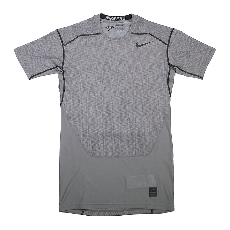 Футболка Nike Hypercool Comp SSКомпрессионное белье<br>Полиэстер, эластан<br><br>Цвет: Серый<br>Размеры US: L;XL<br>Пол: Мужской