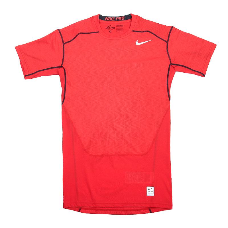 Футболка Nike Hypercool Comp SSКомпрессионное белье<br>Полиэстер, эластан<br><br>Цвет: Красный<br>Размеры US: S;M;L;XL<br>Пол: Мужской