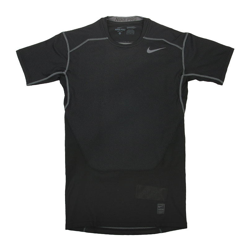 Футболка Nike Hypercool Comp SSКомпрессионное белье<br>Полиэстер, эластан<br><br>Цвет: Черный<br>Размеры US: M;XL<br>Пол: Мужской