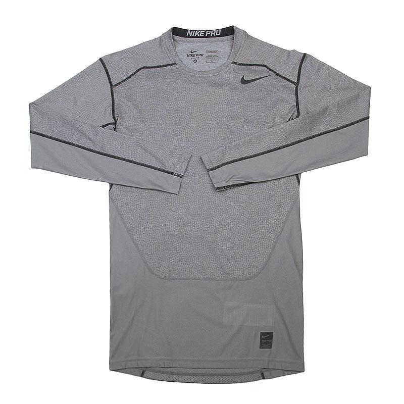 Лонгслив Nike Hypercool Comp LSКомпрессионное белье<br>Полиэстер, эластан<br><br>Цвет: Серый<br>Размеры US: XL<br>Пол: Мужской