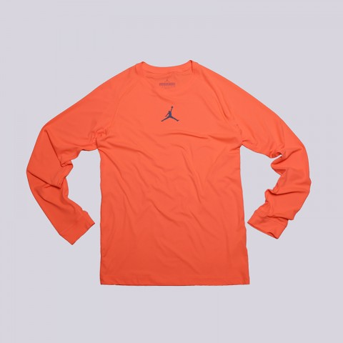мужской оранжевая  лонгслив jordan all season fitted 642406-877 - цена, описание, фото 1