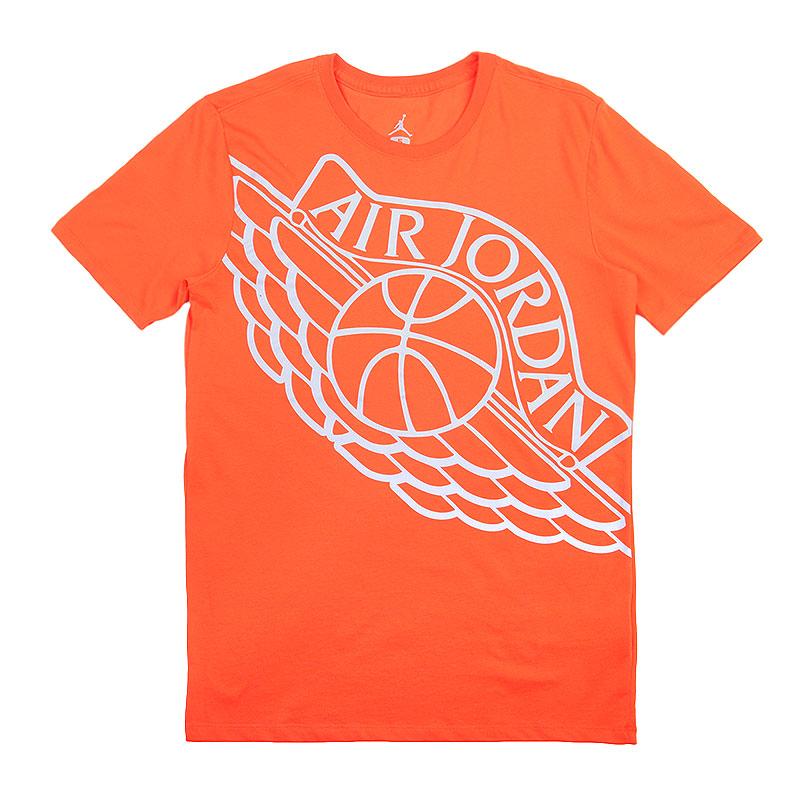 Футболка Jordan WingspanФутболки<br>Хлопок, полиэстер<br><br>Цвет: Оранжевый<br>Размеры US: 2XL;L;S