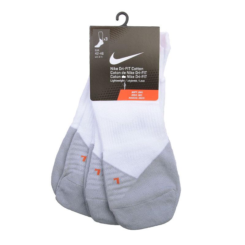 Купить мужские белые, серые  носки nike dri-fit lightweight hi-lo 3-pack socks в магазинах Streetball изображение - 1 картинки