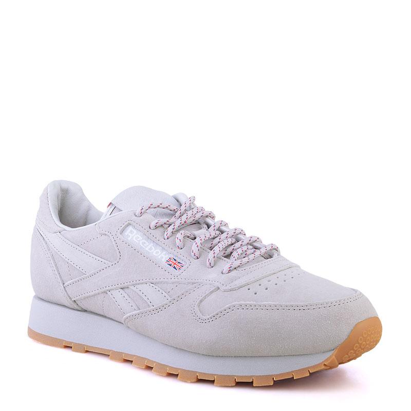 Купить мужские серые  кроссовки reebok classic leather x kendrick lamar в магазинах Streetball изображение - 1 картинки