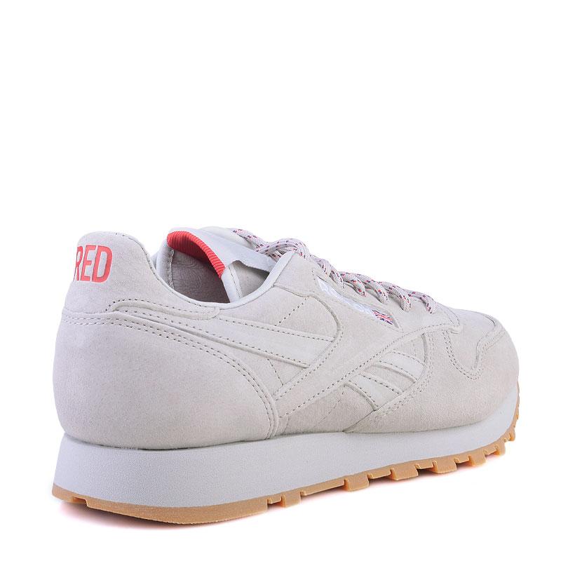 Купить мужские серые  кроссовки reebok classic leather x kendrick lamar в магазинах Streetball изображение - 2 картинки