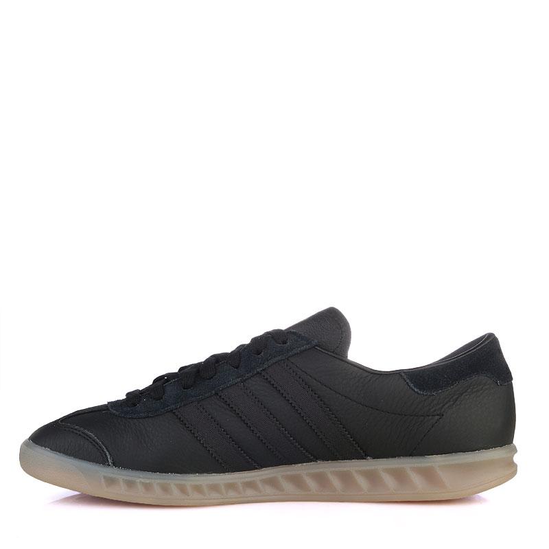 Купить мужские черные  кроссовки adidas originals hamburg в магазинах Streetball изображение - 3 картинки