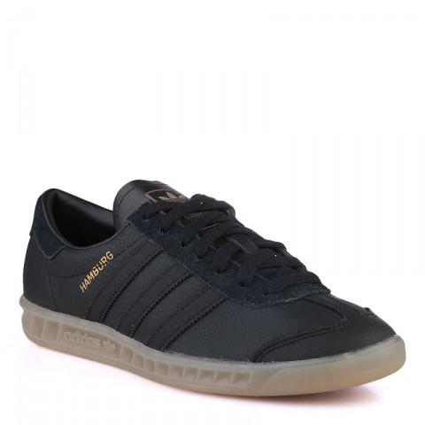 Купить мужские черные  кроссовки adidas originals hamburg в магазинах Streetball - изображение 1 картинки