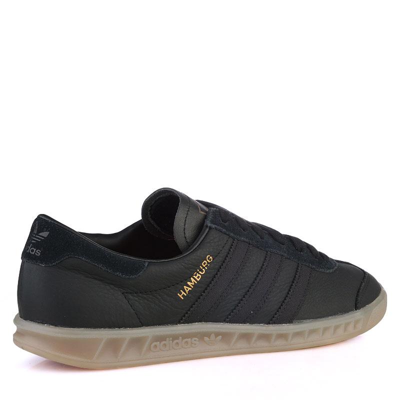 Купить мужские черные  кроссовки adidas originals hamburg в магазинах Streetball изображение - 2 картинки