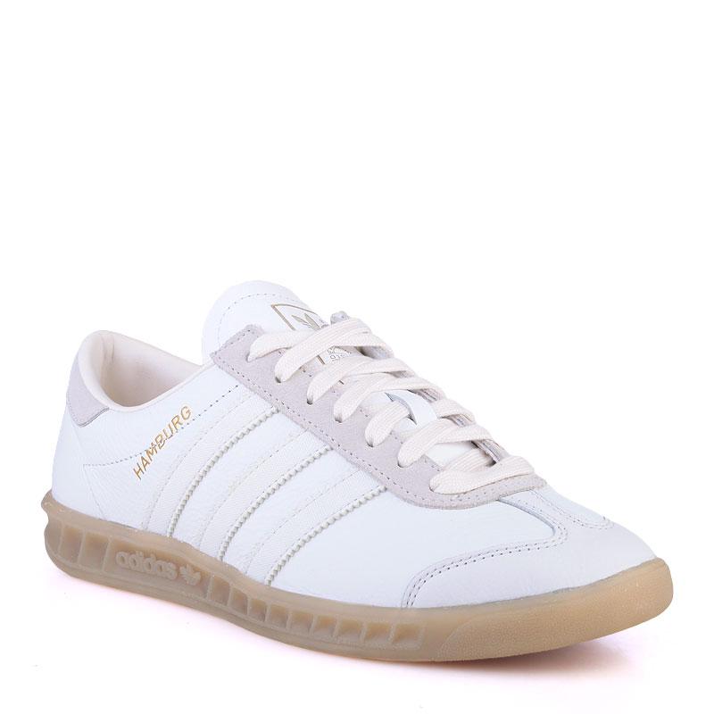 мужские белые  кроссовки adidas originals hamburg S74836 - цена, описание, фото 1